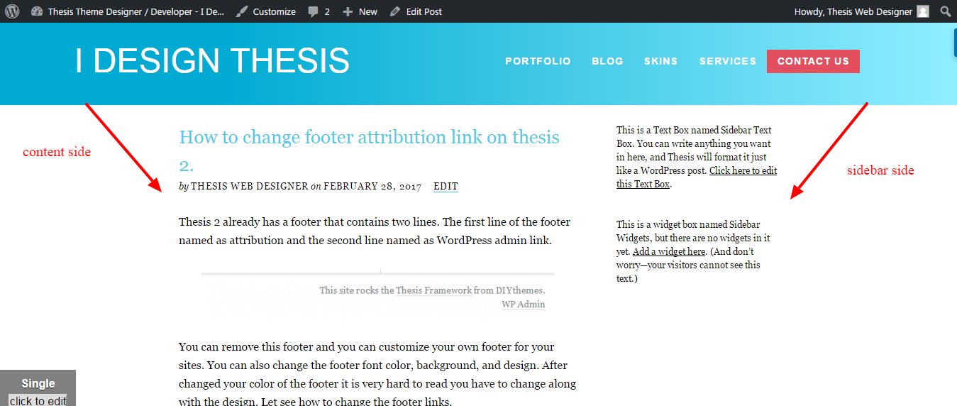 How to edit custom css in thesis